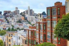 Typisches San Francisco Neighborhood Lizenzfreies Stockbild