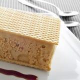 Typisches spanisches helado Al corte oder Corte de Helado, Eiscreme sa Stockbild