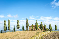 Typisches Toskana-Haus stockbild