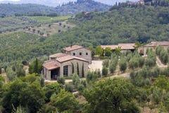 Typisches toskanisches Haus lizenzfreie stockbilder