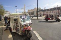 Typisches Transportmittel Tuk Tuk A von Lissabon Lizenzfreies Stockfoto