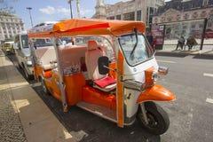 Typisches Transportmittel Tuk Tuk A von Lissabon Lizenzfreie Stockfotografie