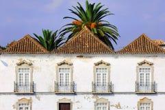 typisk algarve arkitekturportugal tavira Arkivbild