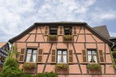 typisk alsace france hus Fotografering för Bildbyråer