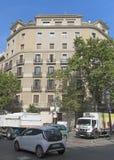 Typisk arkitektur av Barcelona Royaltyfria Bilder