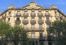 Typisk arkitektur av Barcelona Royaltyfri Fotografi