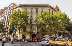 Typisk arkitektur av Barcelona Royaltyfri Foto