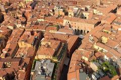 Typisk arkitektur av bolognaen, Italien Arkivfoto