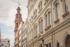 Typisk arkitektur av byggnader i det historiska området av Va Royaltyfri Foto