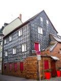 Typisk bayerskt hus, Furth, Tyskland Arkivfoton