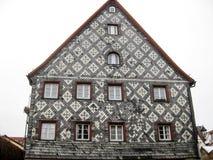Typisk bayerskt hus, Furth, Tyskland Royaltyfri Fotografi