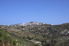 Typisk Cycladic stad Royaltyfri Foto