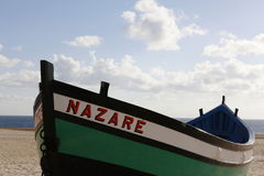 Typisk fishingboat från Portugal Royaltyfri Foto