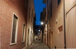 Typisk folkloristic gata för Fano ` s Arkivfoton