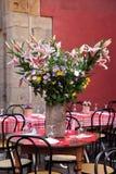 Typisk fransk restaurangplats Royaltyfria Bilder