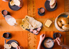 typisk frukosttysk royaltyfria foton