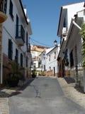 Typisk gata--Alhaurin de la Torre-Andalusia-Spanien Arkivbild