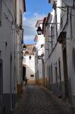 Typisk gata för Ã-‰ vora Royaltyfri Foto