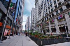 Typisk gataplats, i stadens centrum Chicago Arkivbilder