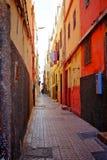 Typisk gränd i en moroccan stad Royaltyfria Foton