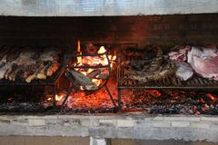 Typisk grillfest Brasilien fotografering för bildbyråer