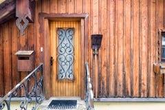 Typisk hus i Hallstatt Arkivbilder