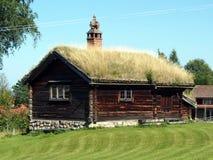 Typisk hus i Tallberg Arkivbild
