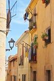 Typisk hus i Tarragona Arkivbild