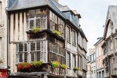 Typisk hus Rennes, franska Royaltyfria Foton