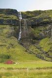 Typisk isländsk bergssida nära den aouthern Ring Road Royaltyfri Bild