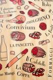 Typisk italiensk korv Arkivbild