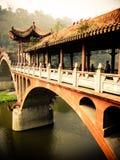 Typisk kinesisk bro Li-Jang Fotografering för Bildbyråer