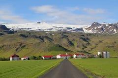 Typisk lantgård i Island Arkivbild
