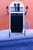 Typisk Lisbon dörr Royaltyfria Bilder