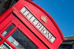Typisk London telefonbås Fotografering för Bildbyråer