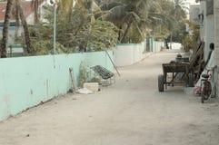Typisk maldivian gata royaltyfria foton