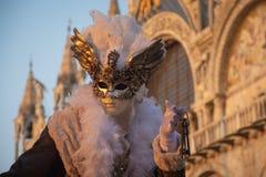 Typisk maskering i Venedig, karneval arkivbilder