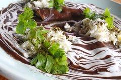 Typisk mexikanEnfrijoladas maträtt Royaltyfri Bild