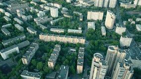 Typisk Moskvabostadsområde stock video
