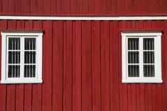 Typisk norvegian hus Arkivbilder