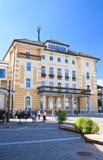 Typisk polsk arkitektur i Rzeszow Velden _ Arkivfoton