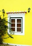 Typisk portugisiskt fönster Arkivfoto