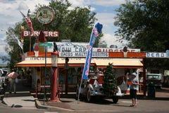 Typisk restaurang längs Route 66 i Arizona, USA Arkivbild