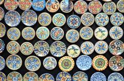 Typisk sicilian krukmakeri Arkivbild