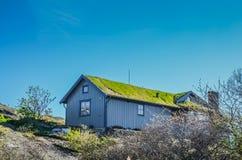 Typisk skandinaviskt hus fotografering för bildbyråer