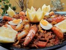 Typisk spansk mat royaltyfri bild