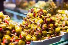 Typisk spansk matmarknad. arkivbilder