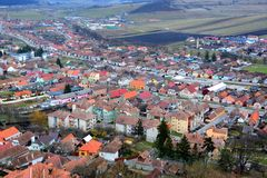 Typisk stads- landskap i stadsRupea-Repsna Royaltyfri Fotografi