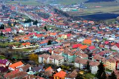 Typisk stads- landskap i stadsRupea-Repsna Royaltyfri Foto