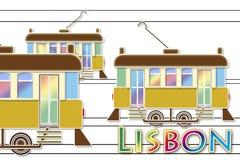 Typisk stads- transport av den Lissabon staden Europa - Portugal royaltyfri foto